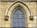 NZ0737 : Carved heads, Wolsingham Parish Church by Andrew Curtis
