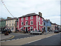 SN4562 : The Castle Hotel on Market Street, Aberaeron by Jeremy Bolwell