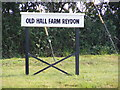 TM4877 : Old Hall Farm Reydon sign by Adrian Cable