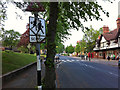 SP0481 : Pre-Worboys school sign on Sycamore Road by Bournville village green by Phil Champion