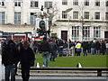 SJ8498 : Demonstration in Piccadilly Gardens by Phil Champion