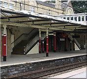 SE1039 : Bingley - station footbridge steps by Dave Bevis