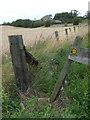 NZ3049 : Public footpath near Great Lumley by Malc McDonald