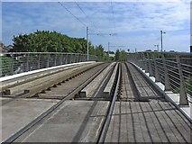 O1233 : Tram tracks over the Grand Canal near Dolphin Road, Kilmainham/Cill Mhaighneann, Dublin by L S Wilson