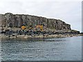 NM3043 : Cliff-lined east coast of Fladda by Oliver Dixon