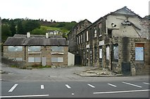 SD9524 : Cinderhill Mills and the former Rose and Crown, Todmorden by Humphrey Bolton