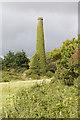 SW5830 : Chimney of Bullens engine house by Elizabeth Scott