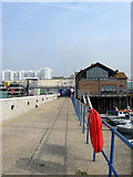 TQ3303 : West Quay, Brighton Marina by Simon Carey