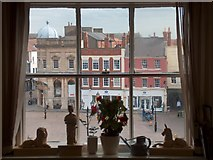 SK7953 : View of Newark marketplace from the mayoral office in the town hall by Neil Theasby