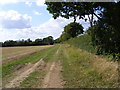 TM2157 : Footpath to Otley Road by Adrian Cable