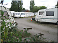 SP2382 : Caravan storage, Birmingham Road  by Robin Stott