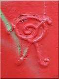 TQ2284 : Victorian postbox, Balmoral Road / Lechmere Road, NW2 - royal cipher by Mike Quinn