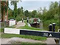 SJ9131 : Waiting at Aston Lock, Staffordshire by Roger  Kidd