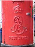 TQ2284 : Edward VII postbox, Hawthorn Road / High Road, NW10 - royal cipher by Mike Quinn