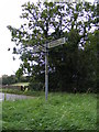 TM2059 : Roadsign at the Framsden Road junction by Adrian Cable