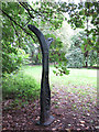 TQ2668 : Sustrans milepost in Ravensbury Park by Stephen Craven