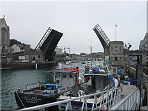 SY6778 : Town Bridge, Weymouth by Alex McGregor