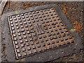 J4974 : Ulster Foundries access cover, Newtownards by Albert Bridge