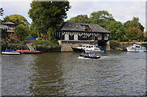 TQ1673 : View to Eel Pie Island by Philip Halling
