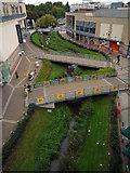 TL0506 : River Gade flows through new shopping development by Tom Presland