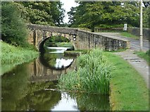 SE0424 : Canal Bridge at Tenterfields, Luddenden Foot by Humphrey Bolton