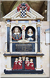 SU3521 : John St Barbe memorial - Romsey Abbey by Mike Searle