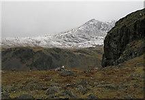 NY2201 : Embedded rocks and crag west of Border End by Trevor Littlewood