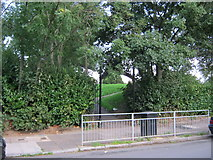 NZ2715 : Western entrance to Sugar Hill Park in Darlington by peter robinson