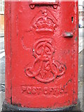 TQ2284 : Edward VII postbox, High Road / St. Andrew's Road, NW10 - royal cipher by Mike Quinn