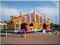 TQ8209 : Bouncy castle at Stade Family Fun Park by Oast House Archive