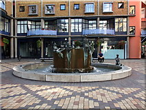 TQ3379 : Fountain at Shad Thames by PAUL FARMER