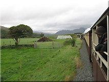 SH5840 : Welsh Highland Railway across Traeth Mawr by Gareth James
