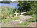 TM2950 : Disabled fishing stand at Wilford Bridge Fishing Lake by Adrian Cable