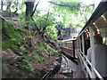 SH5847 : Welsh Highland Railway entering Goat Tunnel, Beddgelert by Gareth James