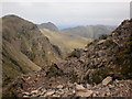 NY2306 : Bowfell and Crinkle Crags by Peter S