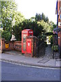 TM2749 : Telephone Box & Market Hill Postbox by Adrian Cable