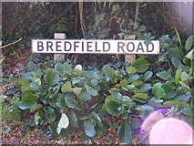 TM2649 : Bredfield Road sign by Geographer