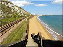 TR3140 : Dover, Western Heights Beach by Helmut Zozmann