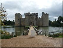 TQ7825 : Bodiam Castle's modern entrance by Jeremy Bolwell