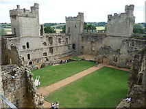 TQ7825 : Bodiam Castle's interior buildings by Jeremy Bolwell