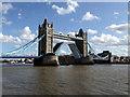 TQ3380 : Thames Barge sailing under Tower Bridge by PAUL FARMER