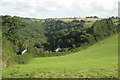 SX8182 : Tottiford Farm above the Beadon Brook valley  by Robin Stott