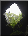 NY3102 : Abseiling into Cathedral Quarry by Karl and Ali
