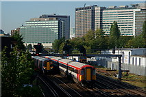 TQ3266 : Trains at East Croydon by Peter Trimming