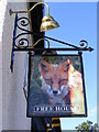 TM4385 : Shadingfield Fox Public House sign by Adrian Cable