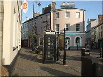 SC2667 : Black telephone box Castletown Square by Richard Hoare
