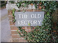 TM3654 : The Old Rectory sign by Adrian Cable