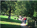 TQ5901 : Path through Hampden Park by Oast House Archive