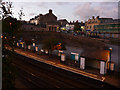 SH7877 : Conwy railway station at dusk by Phil Champion
