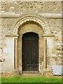 SP8526 : St Michael & All Angels, Stewkley - Doorway by John Salmon